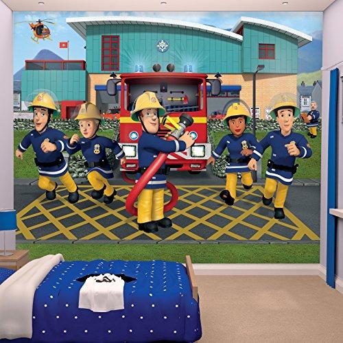 Kindertapete - Wandtapete - Fototapete Fireman Sam + Tapetenkleister - Kinder, Tapete, Disney Mädchen,