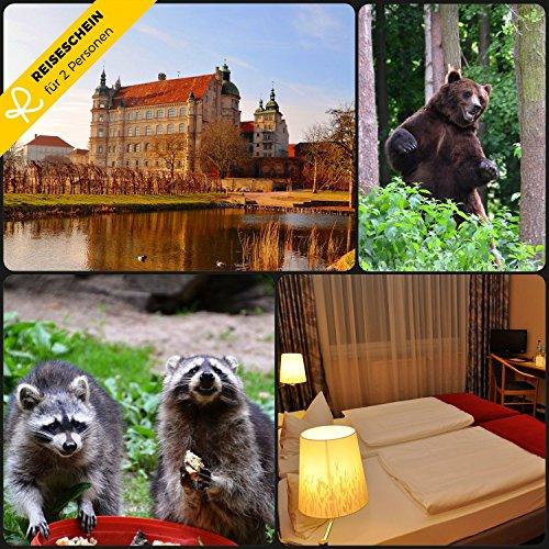 Reiseschein - 8 Tage im 3* Hotel am Tierpark in Güstrow südlich von Rostock in Mecklenburg-Vorpommern - Gutschein Kurzreise Kurzurlaub Reise Geschenk