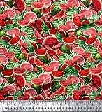 Soimoi 60 Zoll breit Red Wassermelone Druck 2-Wege-Stretch