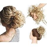 Extension Chignon Elastico Spettinato Capelli Ricci Finti Hair Magic Bun XXL 45g Messy Curly Coda di Cavallo Treccia…