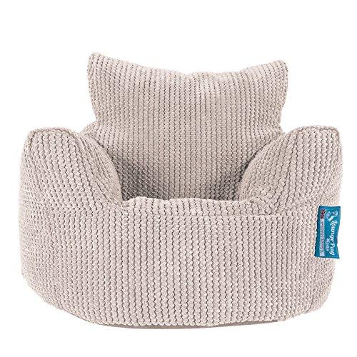 Lounge Pug, Kindersessel Sitzsack, Sitzsack Kinder, Pom-Pom Creme