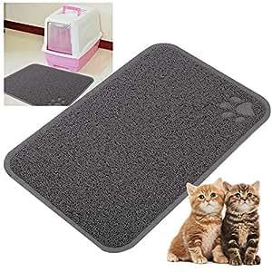yaheetech tapis de liti re pour chat 40 x 60 cm tapis imperm able antid rapant en pvc pour bac. Black Bedroom Furniture Sets. Home Design Ideas