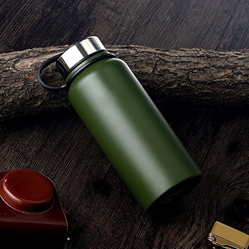 DONG Vakuum/Edelstahl/Isolierung/space/outdoor/Luxus/Sport/Trinkflaschen , green , 800ml