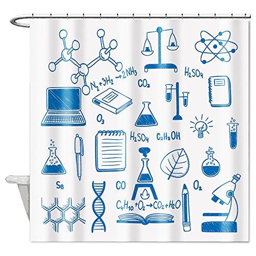 zichuangd Wissenschaft Chemie Wasserdicht Duschvorhang 182,9x 182,9cm