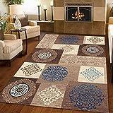 GCC Traditionelle Blumenteppich Designer Teppich Wohnzimmerteppich Retro Modern Casual Unschlagbaren Deal Kann Maschinell Gewaschen Werden,02,200 * 300Cm
