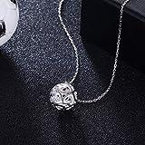 Frauen Halsketten HOME Europäische und amerikanische Mode Fußball Form Anhänger Sterling Silber Halskette Liebe hohle S925 Sterling Silber Halskette Schmuck Geschenke für Frauen Neck Lace
