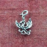 fourseven 925 Sterling Silver Rise Again Phoenix Charm Pendant for Men & Women