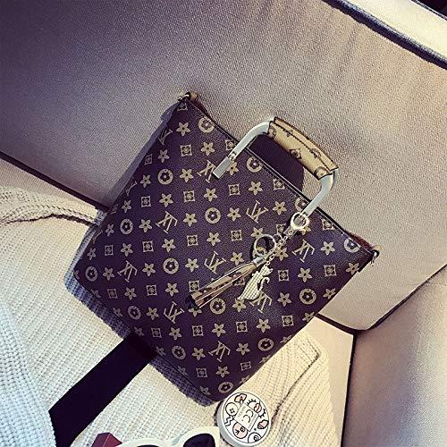 LFGCL Taschen womenPrinted Muttertasche Quaste Handtasche Dame Umhängetasche, Khaki