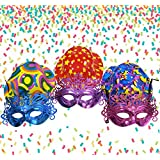 Asian Hobby Crafts Party Bowler Hats and Glitter Eye Masks (Pack of 6)