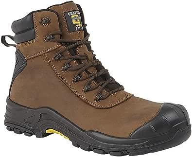 Grafters - Stivali di sicurezza da uomo, in pelle, con lacci, 17,8 cm
