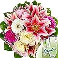 Blumenstrauß Träumerei mit Vase & Secco von FloraPrima auf Du und dein Garten