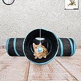 Prosper Pet Cat Tunnel chenci- klappbar 3Wege Play Spielzeug–Tube Fun für Kaninchen, Kätzchen, und Hunde - 9