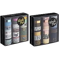Craft Sensations Ruban adhésif décoratif pour scrapbooking, artisanat et Bullet Journals, 2 boîtes de 24 rubans Washi…