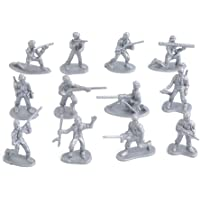 WIN86haib Decoration Parts Toys 100Pcs Military Plastic Simulation Army Soldiers Model Kids Toy Collection Gift