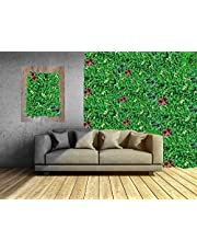 KONARK DESIGNER WALLPAPERS Synthetic Artificial Grass Wall Panels with Grass, Leaf and Floral Designs