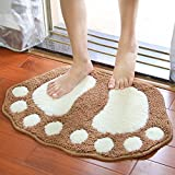 MOMO152105 Mignon flocage pieds tapis de maison tapis de la maison Accueil salle de bain escrime pieds coussin d'oreille,Kaki,48 * 67cm...