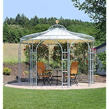 Amazon.de: ELEO Florenz runder Gartenpavillon aus Metall mit ...