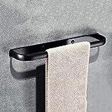 MYJTR Bad Selbstklebende Handtuchhalter Ring Space Aluminium Handtuchstange rostfrei solide Handtuchstange ohne Bohren (Farbe : Deluxe Version Single Pole 58cm)