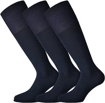Fontana Calze, 6 paia di calze lunghe in caldo cotone elasticizzate confortevoli e rinforzate su punta e tallone. Prodotto Italiano.
