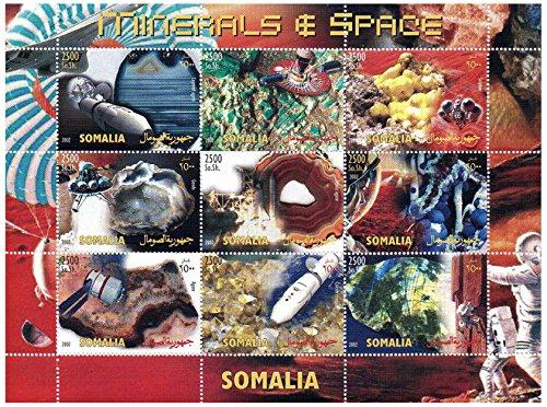Preisvergleich Produktbild Raum Briefmarken für Sammler - Mineralien und Raum - 9 Raum Motto Briefmarken ideal zum Sammeln - super Zustand - Post