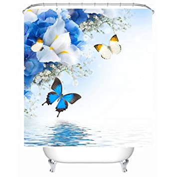 TSJT Shower Curtain Cartoon Polyester Waterproof Mildewproof Bathroom Decor Bath Accessories With 12 Plastic Hooks Multi Size 3 180 X 220 Cm