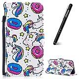 Slynmax Housse iPhone 6s,Coque iPhone 6, Candy Licorne Case de Fleur Bumper Etui de...