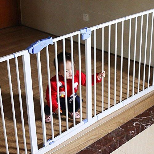 Einfaches Geöffnetes Besonders Breites Baby-Tor Druck-angebrachte Innensicherheits-Tore Für Treppe-Hallway-Eingang Weiß 75-173cm Weit (größe : 136-143cm) (Hund Tore Weit Die)