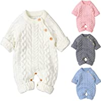 Tianhaik piumini per bambini tuta pagliaccetto tuta manica lunga outwear abiti tuta maglione pagliaccetto maglia…