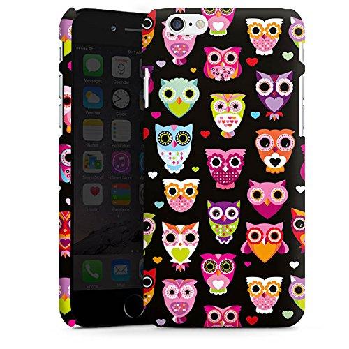 Apple iPhone 8 Hülle Case Handyhülle Eulen Owl Muster Bunt Premium Case matt
