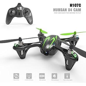 Hubsan H107C X4 Drone Quadrielica 2.4G 4CH RC Camera RTF Nero con Strisce Verdi