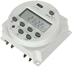 amiciKart CN101A Digital LCD Programmable Timer Switch Relay AC 220V, 16A