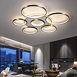Plafonnier LED À Dimmable Salle À Manger Salle De Séjour Lustre Luminaire Moderne Anneau Rond 108W Lampe De Plafond, Diamètre
