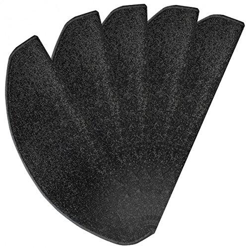 Stufenmatte Marseille schwarz 24 cm x 65 cm - 15 Stück