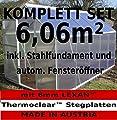 KOMPLETTSET: 6,06m² ALU Aluminium Gewächshaus Glashaus Tomatenhaus, 6mm Hohlkammerstegplatten - (Platten MADE IN AUSTRIA) m. Stahlfundament, 1 Fenster mit autom. Fensteröffner von AS-S von AS-S - Du und dein Garten