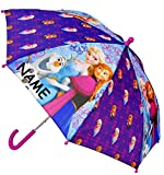alles-meine.de GmbH Regenschirm -  Disney die Eiskönigin - Frozen  - Kinderschirm - incl. Name - Ø 67 cm - Kinder - Kleiner Stockschirm - lila - Schirm Kinderregenschirm / GLOC..