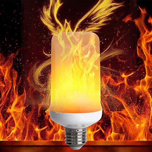 Brennende Lampe (LED Flamme Wirkung Glühbirne, YINUO LIGHT E26 Flackernden Flammen Glühbirnen Perlen Simulierten Dekoratives Licht Atmosphäre Beleuchtung Vintage Brennende Glühbirne für Bar Urlaub)