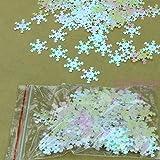 Jagenie - Coriandoli a fiocco di neve iridescenti, tipo paillette, per album per ritagli e biglietti d'auguri fai da te, 100 pezzi