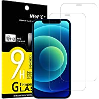 NEW'C 2 Stück, Schutzfolie Panzerglas für iPhone 12, 12 Pro (6.1), Frei von Kratzern, 9H Härte, HD Displayschutzfolie, 0…