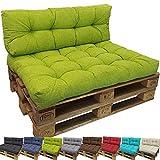 PROHEIM Outdoor Palettenkissen Lounge Palettensofa Indoor/Outdoor schmutz- und Wasserabweisende Palettenauflage Palettenpolster für Europaletten, Variante:Langes Rückenkissen, Farbe:Apfelgrün
