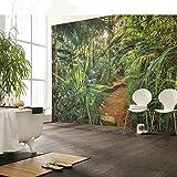 Cucsaistat Papier Peint Mur Végétal Jungle Paysage Papier Peint Salon TV Fond Mur Vidéo Papier Peint