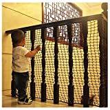 Schutznetz Kindersicherheitsnetz Anti-Fall-Wand Zaun Dekor Garten Balkon Treppe Trampolin Spielplatz Außengeländer Haustier Katze Net Isolation Woven Net 3x6m ( Color : Mesh 10cm , Size : 1*1m )