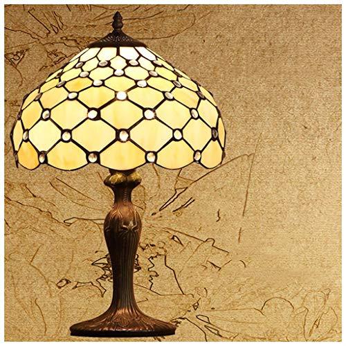 YYF Amerikanische Nachttischlampe im Retro-Stil - europäisches Wohnzimmer Garten 30 cm (12 Zoll)