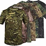 #4: Summer Racing Sports Army Camo Tee Camouflage T-Shirt Short Sleeved Casual Hunting