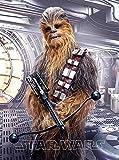 Star Wars-Chewbacca 130cm x 170cm-Manta Manta Polar franela a la cama-Starwars-Disney-Clone Stormtrooper Darth Vader Luke Skywalker Han Solo Princesa Lea Rey BB8R2D2kylo Ren-suave