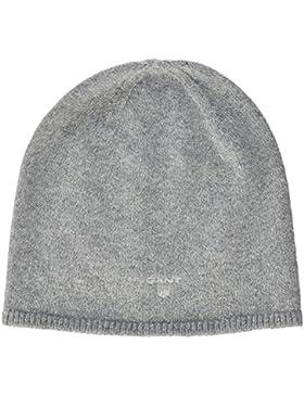 GANT Damen Strickmütze Solid Beanie, Grau (Grey Melange), One size (Herstellergröße: One)