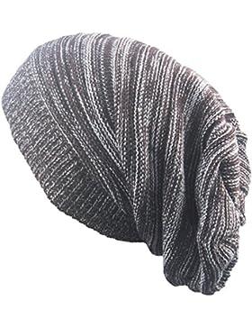 Outflower diadema de moda otoño y invierno en dos colores. Gorro de punto Hip Hop de lana cálida, b, 42-65cm