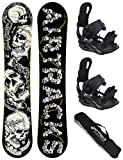 Airtracks Snowboard Set - Board Samsara Wide 159 - Softbindung Master L - SB Bag