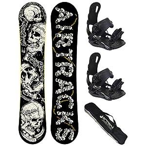Airtracks Snowboard Set/Breath Snowboard Flat Rocker + BINDUNG Star ODER BINDUNG Master FASTEC + SB Bag / 156 159 163 / cm