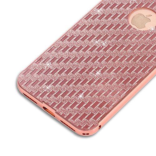 Voguecase® Pour Apple iPhone 6/6S 4,7, TPU avec Absorption de Choc, Etui Silicone Souple, Légère / Ajustement Parfait Coque Shell Housse Cover pour iPhone 6/6S 4,7 (Noir-Couleur Dreamcatcher 01)+ Grat Pink