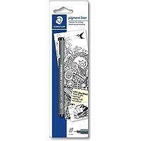 Staedtler 30801-9BKD Penna a pigmentazione a punta sottile, 0.1 mm, Nero